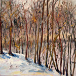 """Wetland in Snow (18"""" x 24"""") oil on canvas"""