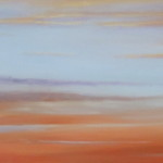 "Ithaca Dawn XXIII (12"" x 48"") oil on canvas"