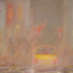 "New York City - Misty Evening (24"" x 36"") oil on canvas  ·  SOLD"
