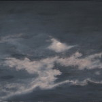 "Night Sky #6 (24"" x 36"") oil on canvas"